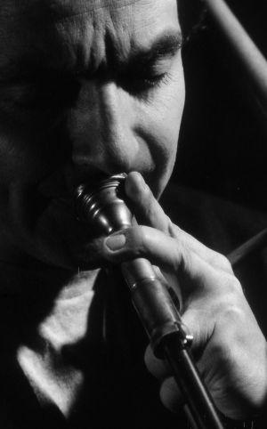 Hugo trombone closeup